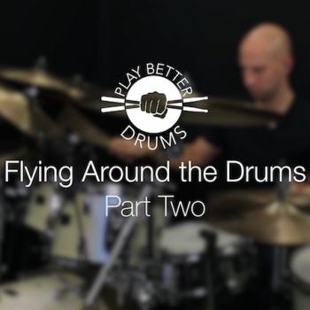 Online Drum Videos Flying Around The Drums